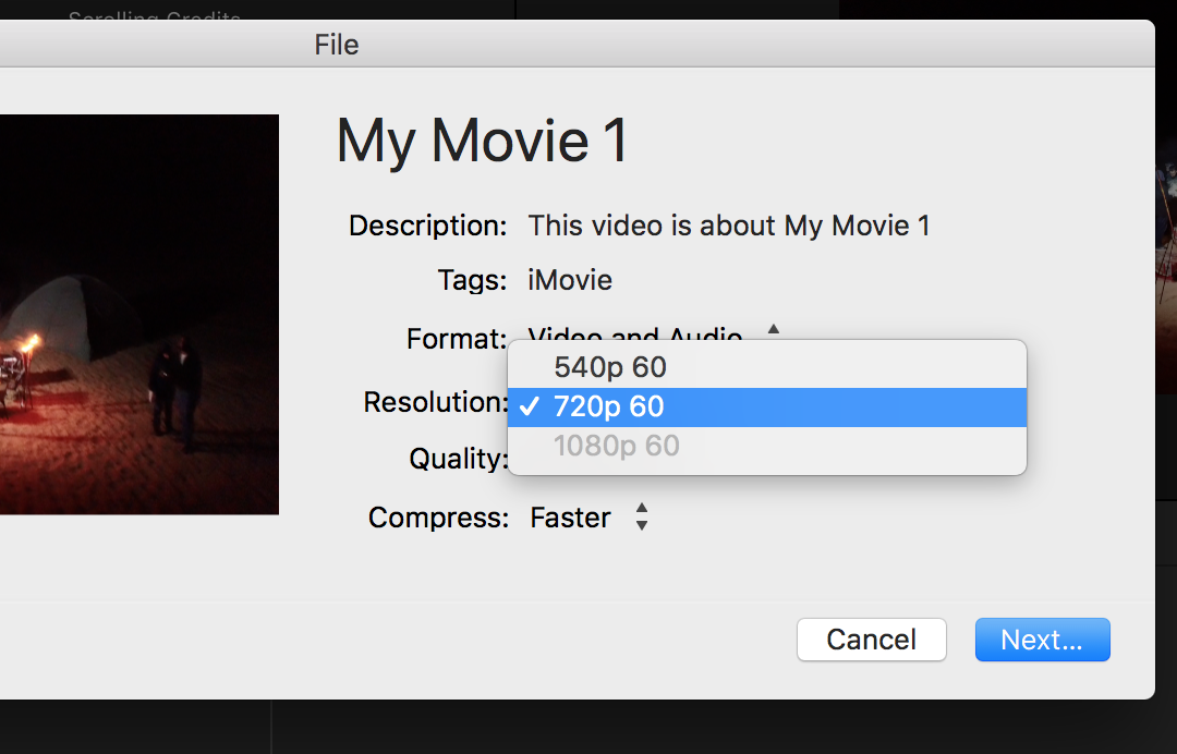 Why won't iMovie 10 export my HD vide… - Apple Community