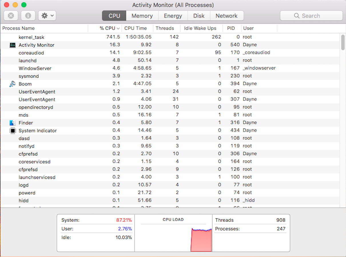Apparent high CPU usage (maybe due to ker… - Apple Community