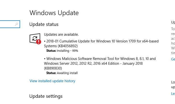 Problems with Windows 1709 update - Apple Community