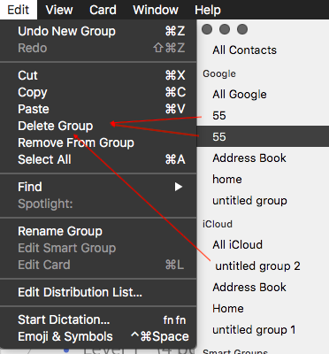 How to create a group of contacts on a Mac