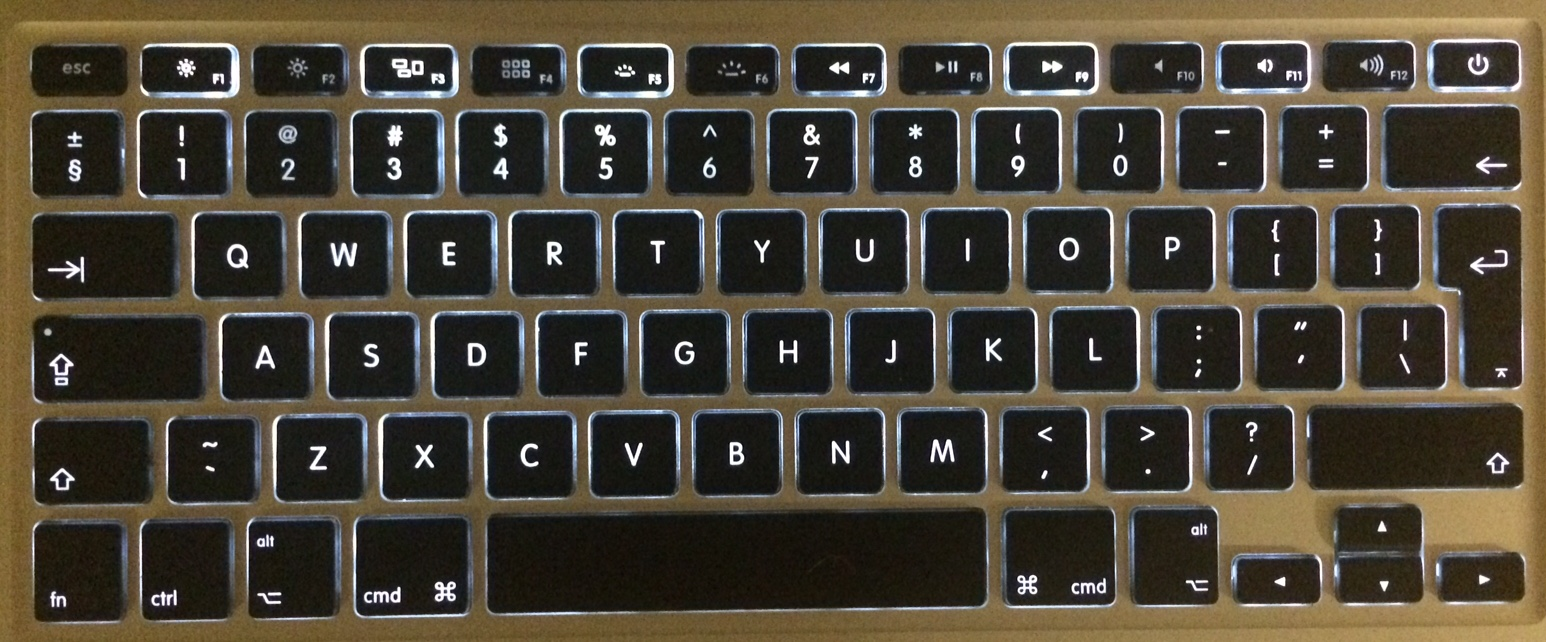The backlight of every other function key… - Apple Community