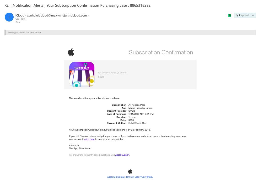 Apple Phishing Mail