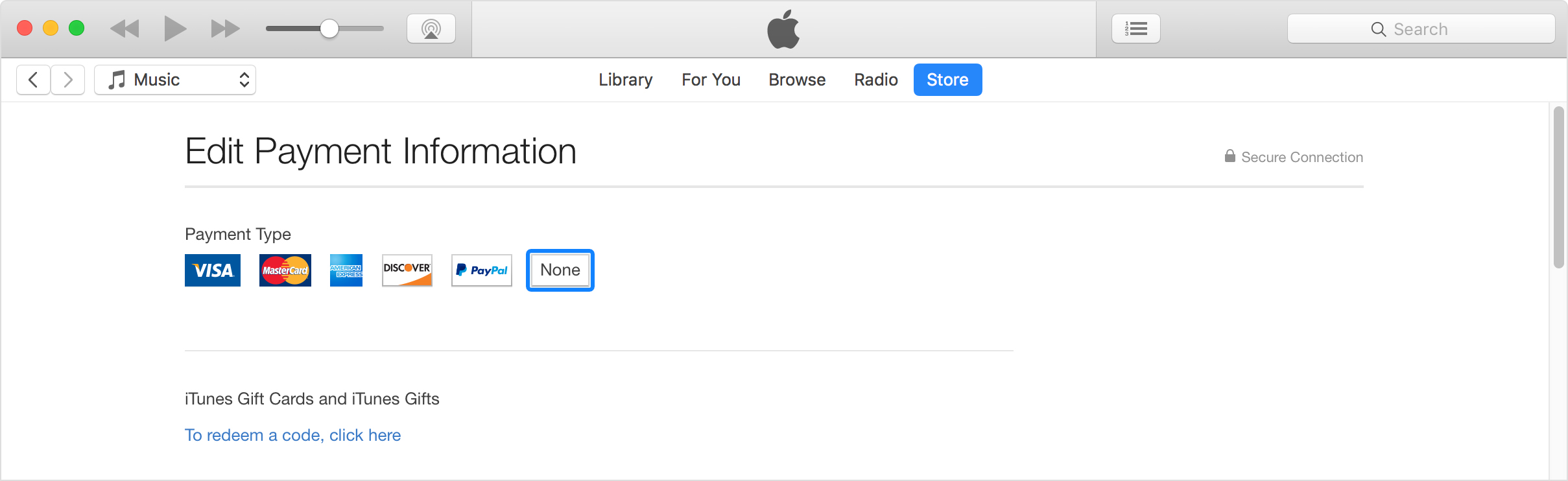 itunes my account information