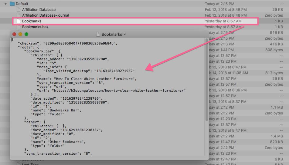 How to restore Google Chrome Bookmarks fr… - Apple Community
