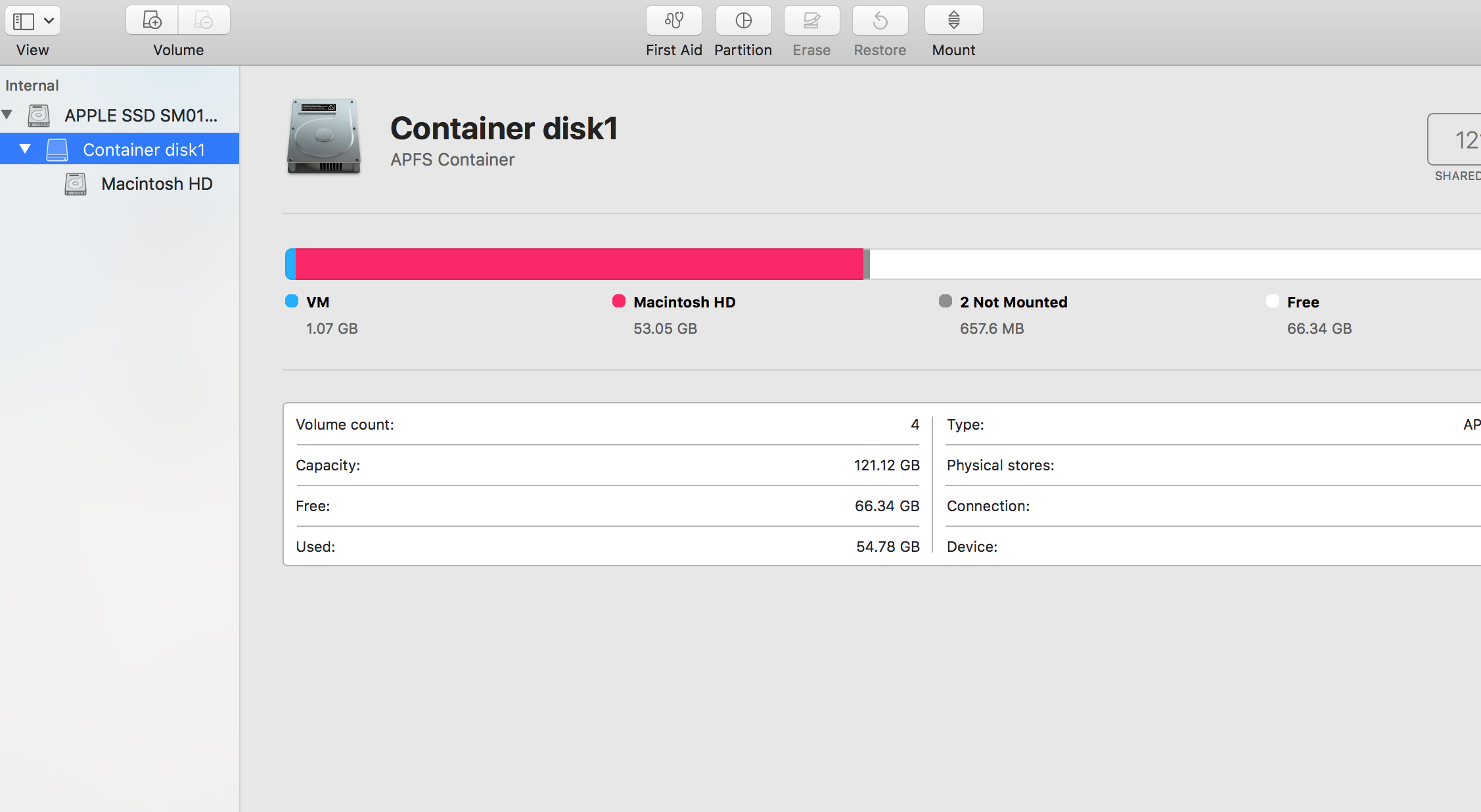 how to delete container disk1 please give… - Apple Community