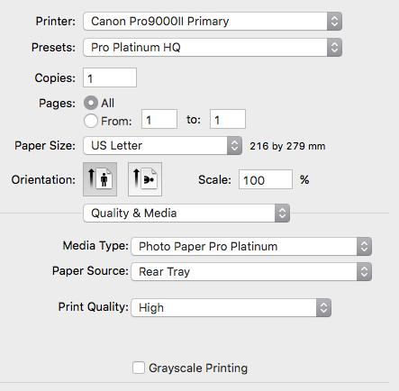 Safari Printing Issue