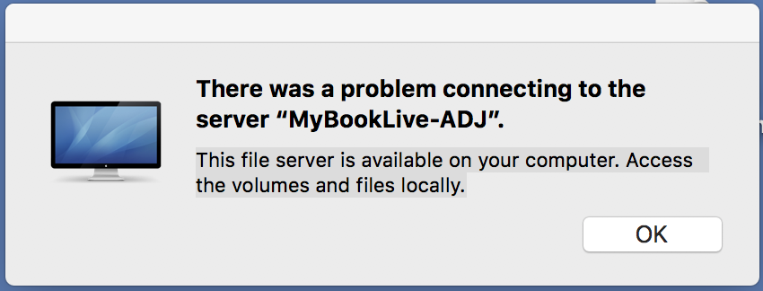 Problem connecting WD MyBookLive to iMac … - Apple Community