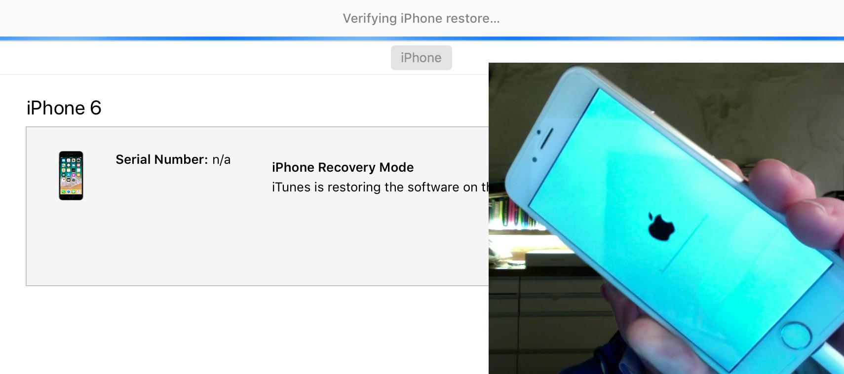 Stuck At Verifying Iphone Restore Apple Community