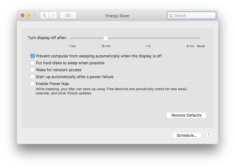 Allow screens to turn off, but keep Mac a… - Apple Community