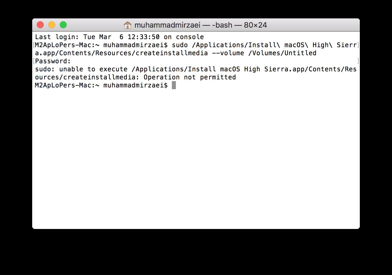 Create macOS High Sierra Installation USB - Apple Community