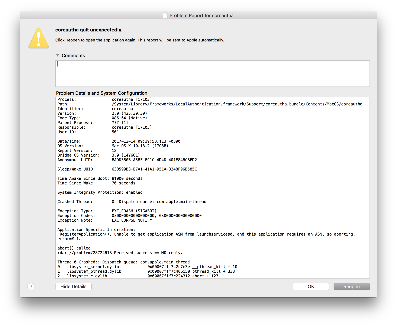 Mac OS High Sierra regularly crashes // C… - Apple Community
