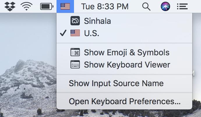 How to type Sinhala on Mac? - Apple Community