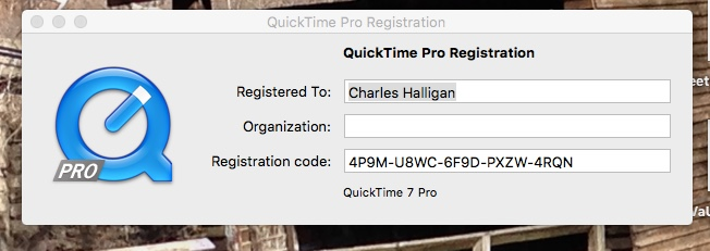 Quicktime Player Pro 7 No longer register… - Apple Community