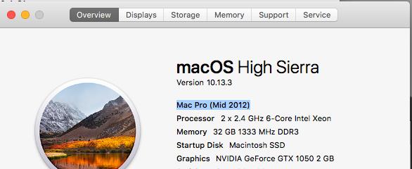 Will a GTX 1050 Work on my Mac Pro? - Apple Community