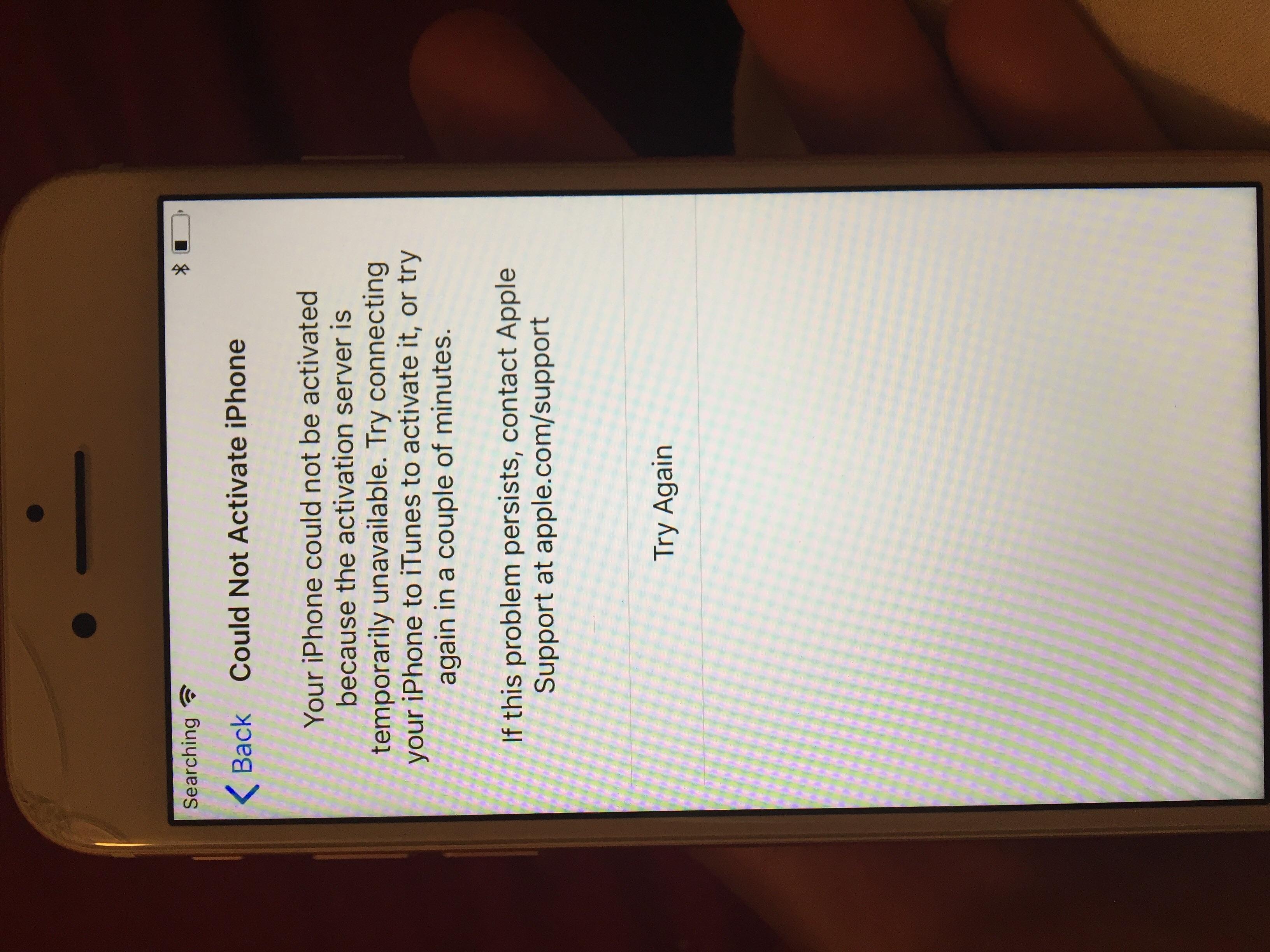 activation server iphone 7