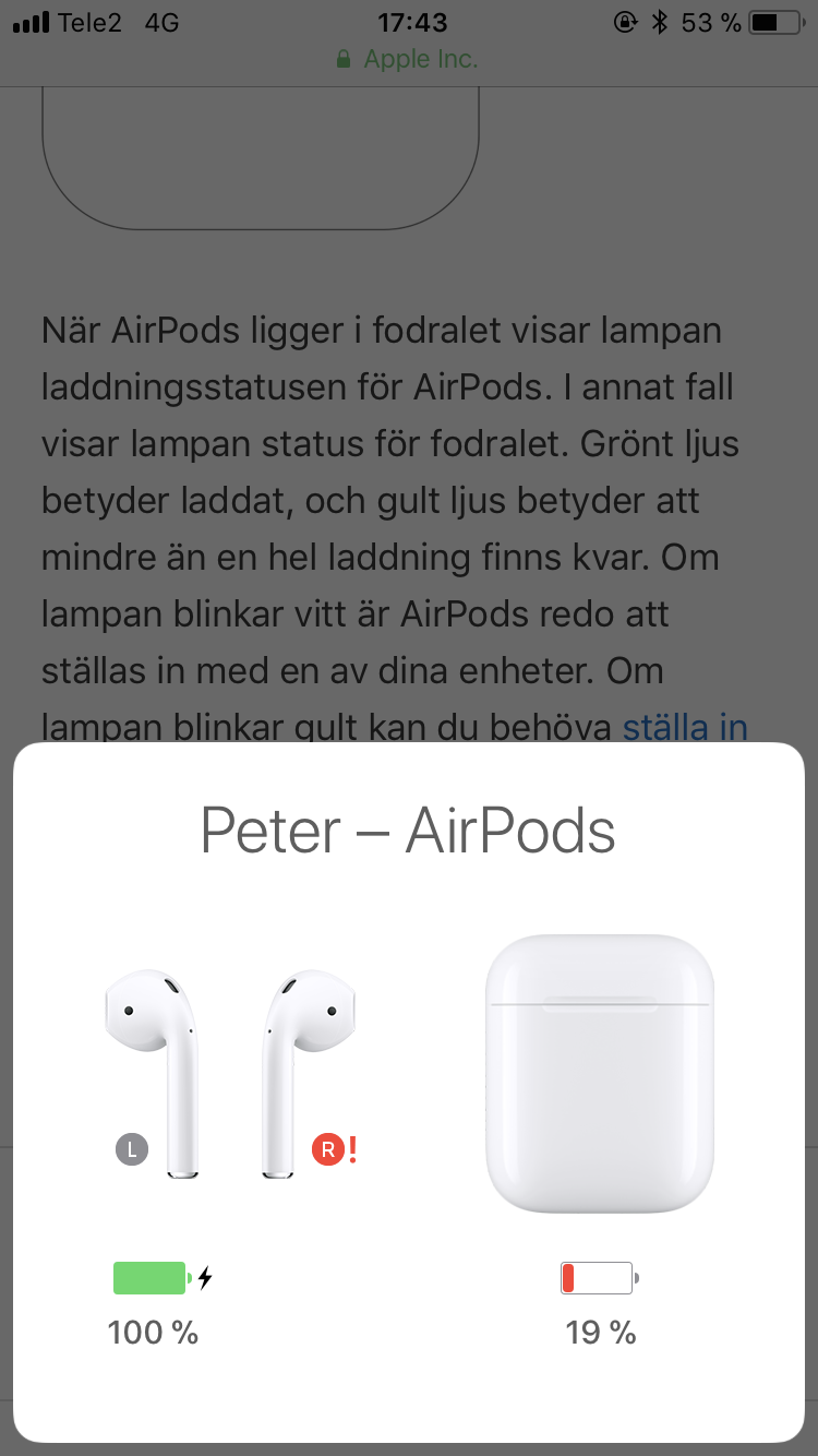 Cannot connect my right airpod? - Apple Community
