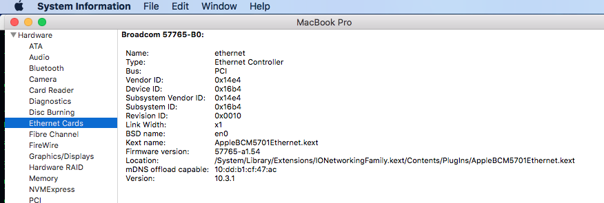 Ethernet not working well - WiFi Works - Apple Community