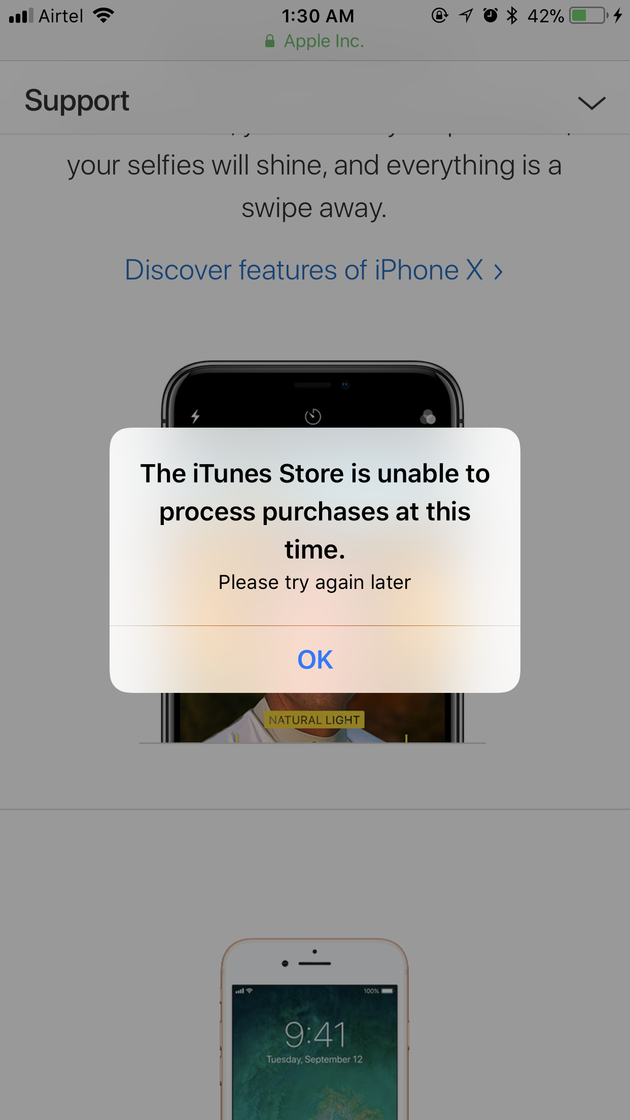 itunes store is unable to process purcha\u2026 - Apple Community