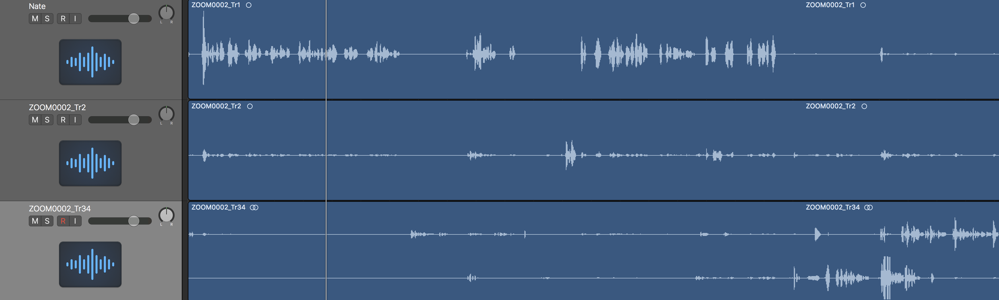 Zoom recorded 2 separate vocal channels i… - Apple Community