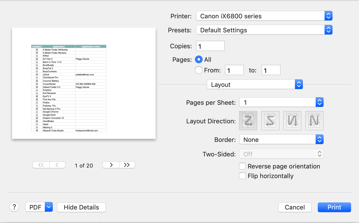 Numbers on MacBook printing double sided-… - Apple Community