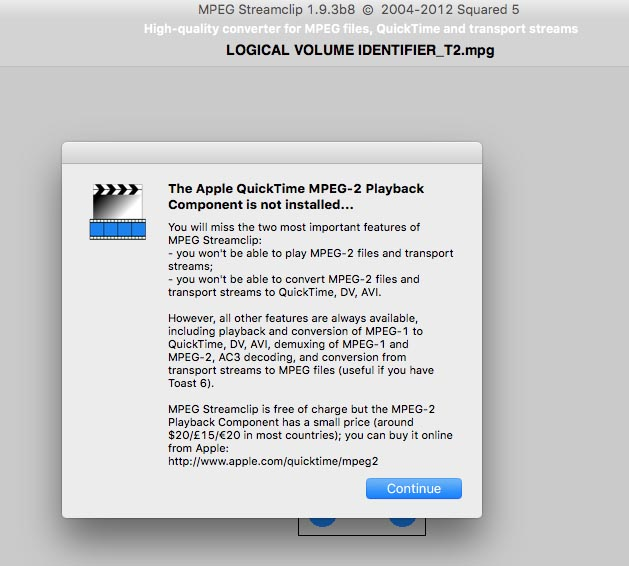 mpeg playback component mac free