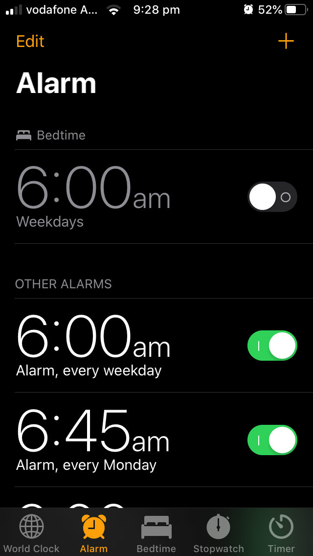 set alarm for 6 00