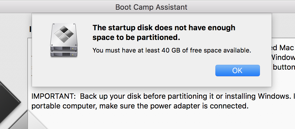Bootcamp Assist: 'Not enough space … - Apple Community