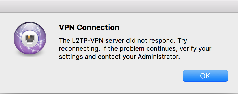 The L2tp Vpn Server Did Not Respond Iphone