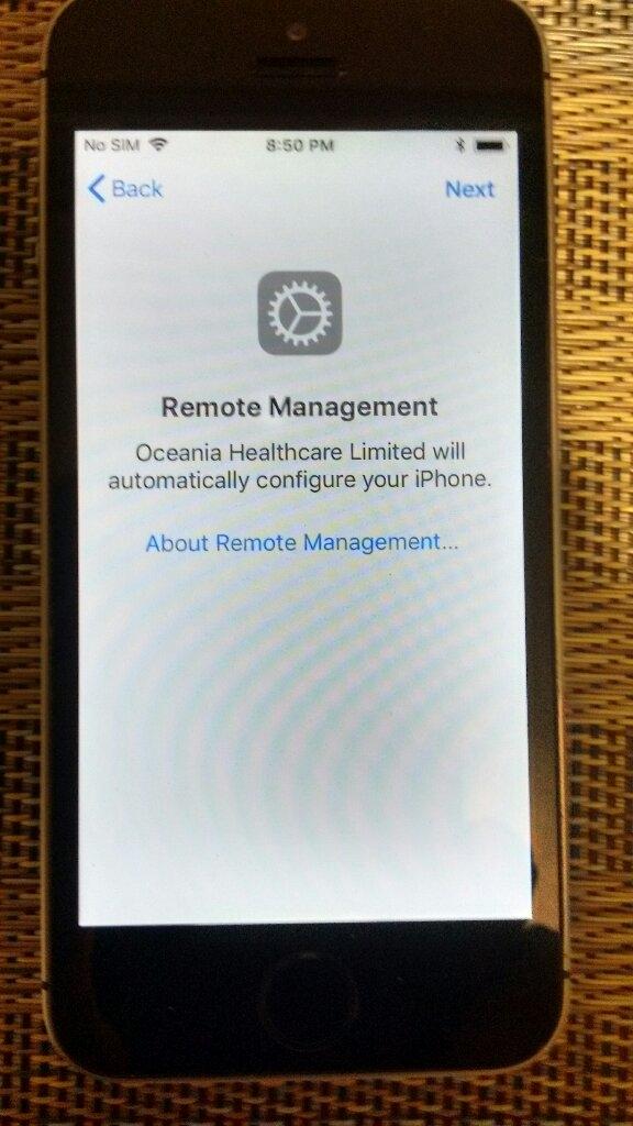 iPhone5S Remote Management - Apple Community