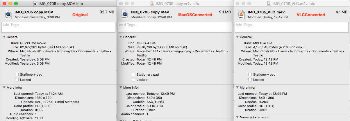 Quicktime > Encode selected video file… - Apple Community