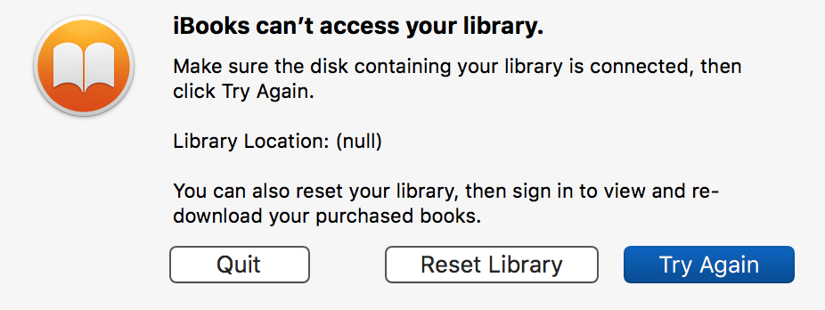 iBooks can't access your library - Apple Community