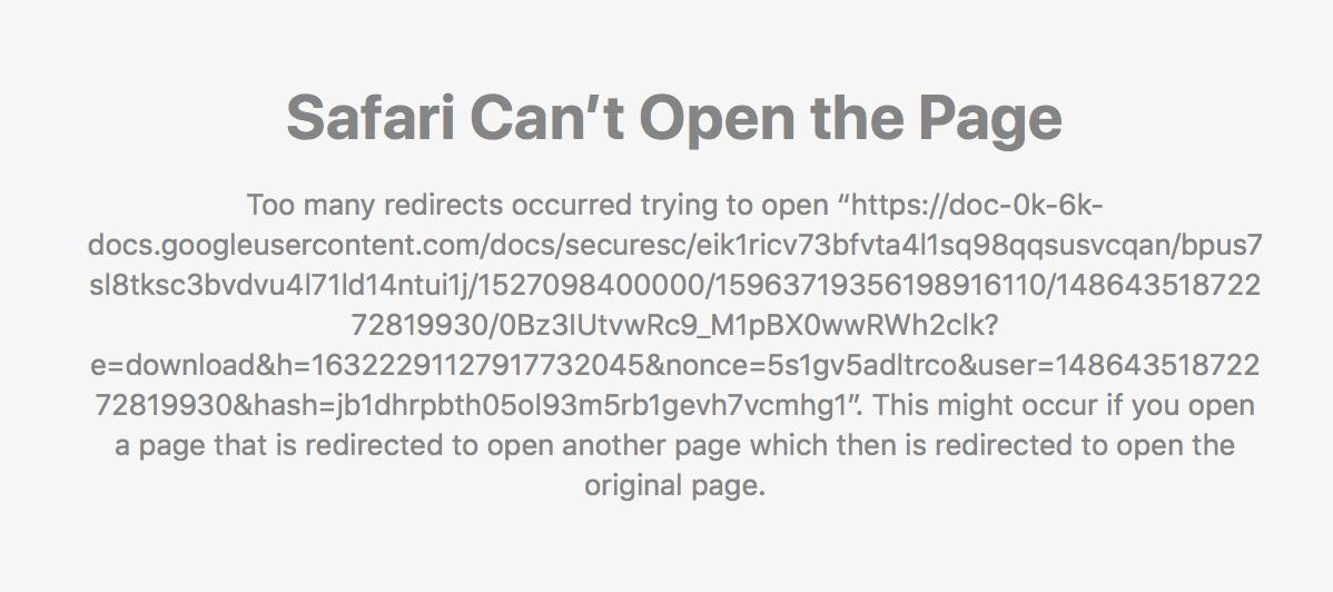 My safari won't download items from g… - Apple Community