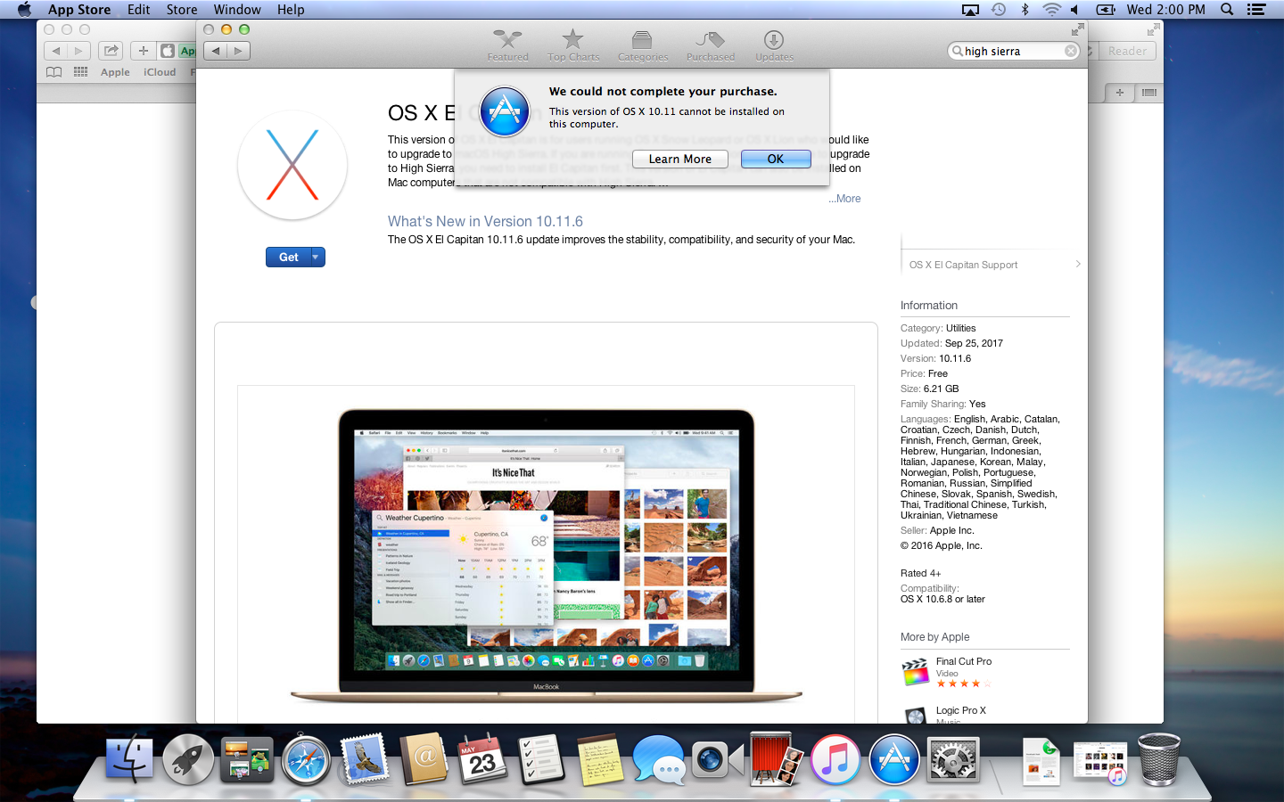 download os x el capitan apple store
