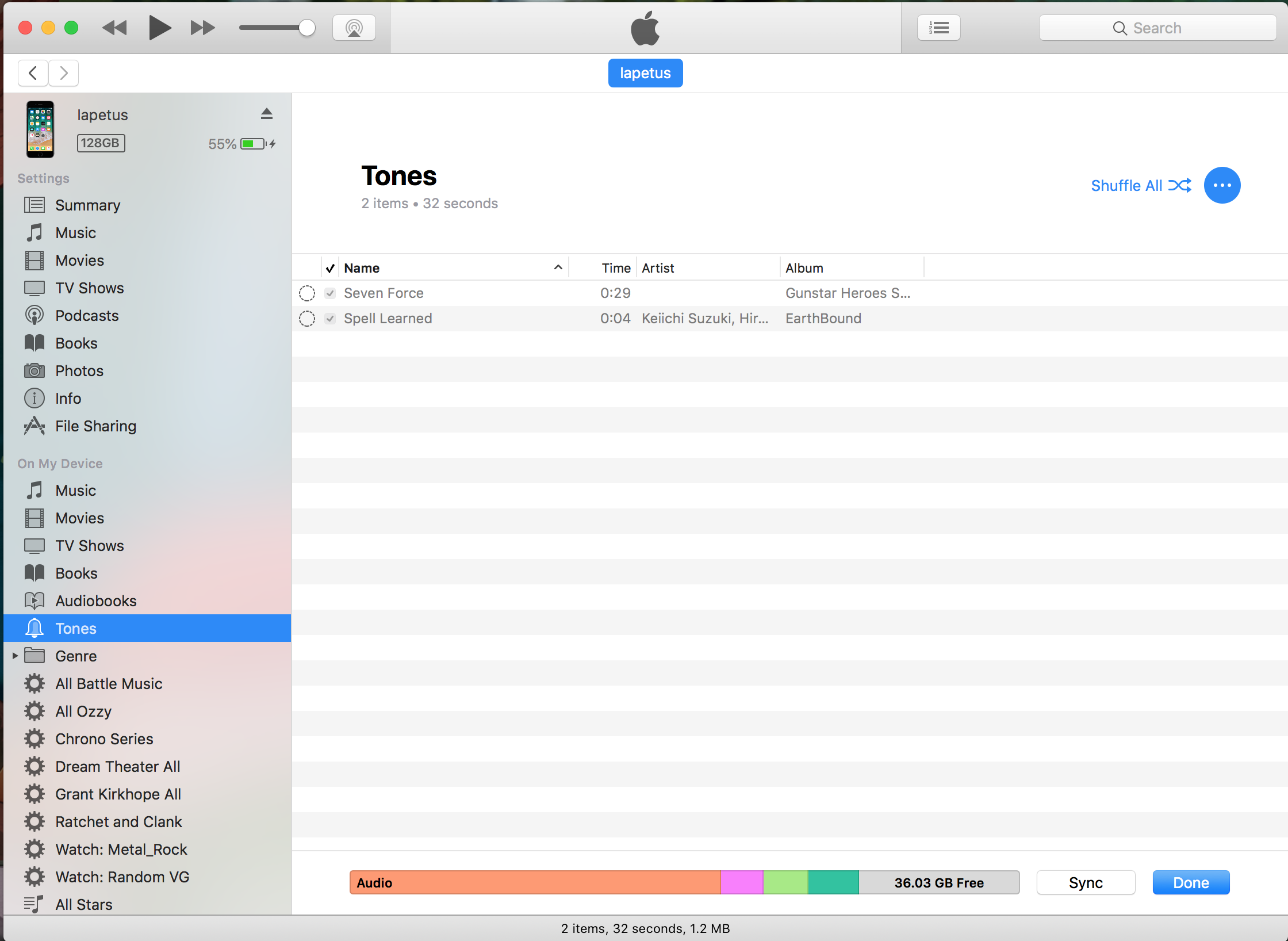 ringtone in itunes is greyed out