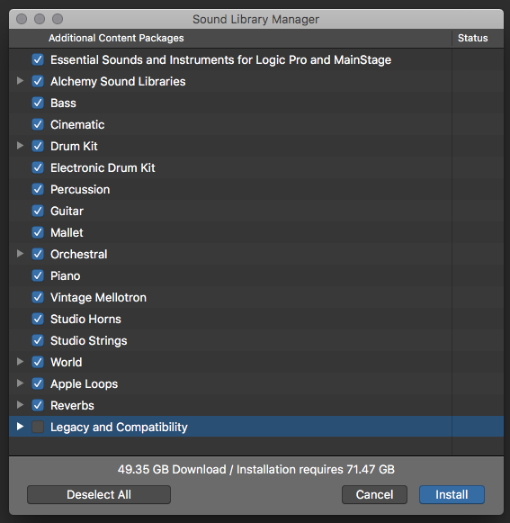 Sound Library Manager does not indicate c… - Apple Community