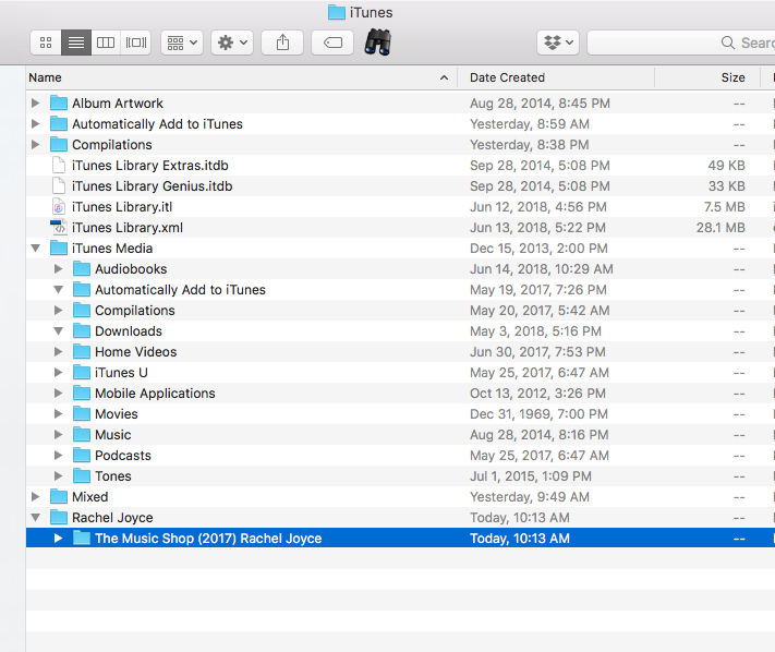 Audiobooks being imported into main iTune… - Apple Community