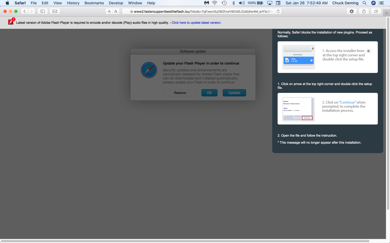 New Adobe Flash Player fake pop-up Januar… - Apple Community