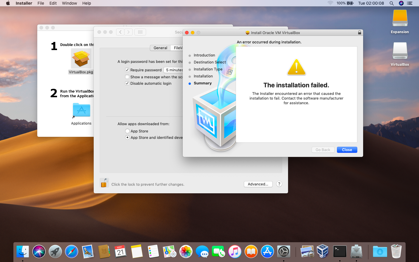 Unable to run Virtualbox after updating t… - Apple Community
