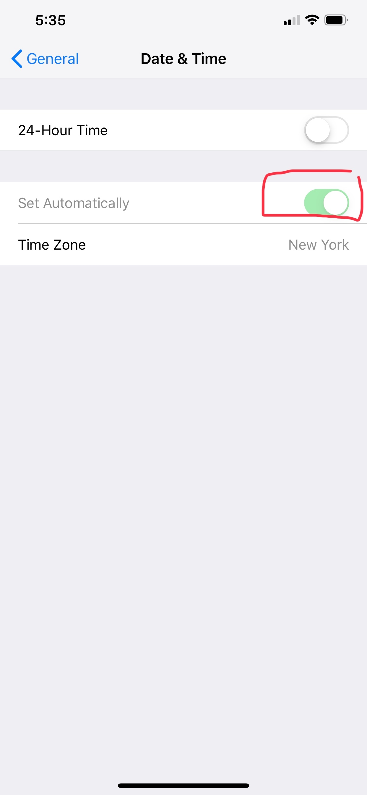 Date and time set automatically greyed out - Apple Community