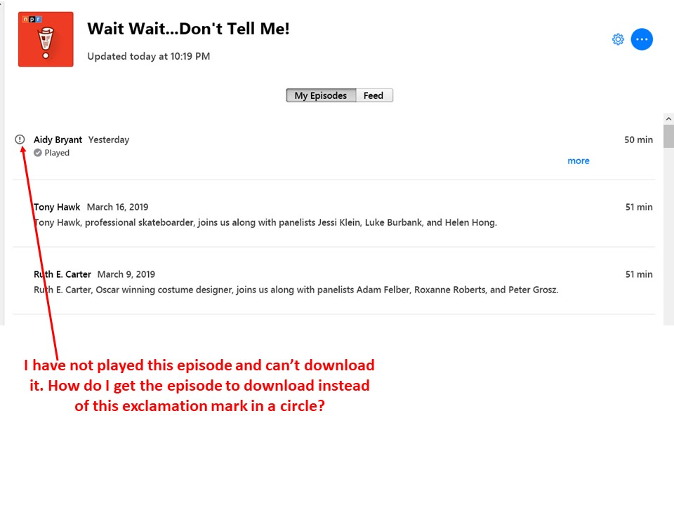 itunes wont download podcast