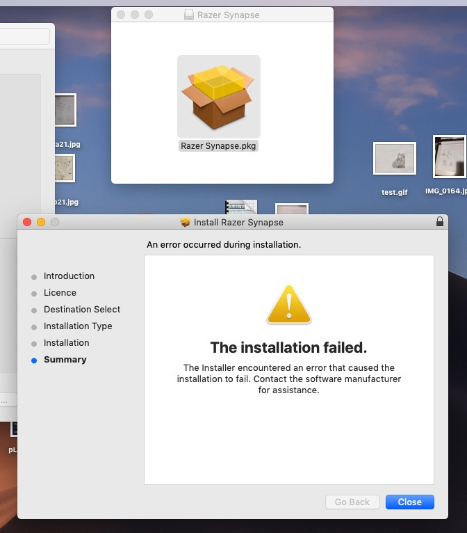 The Installation failed - Apple Community