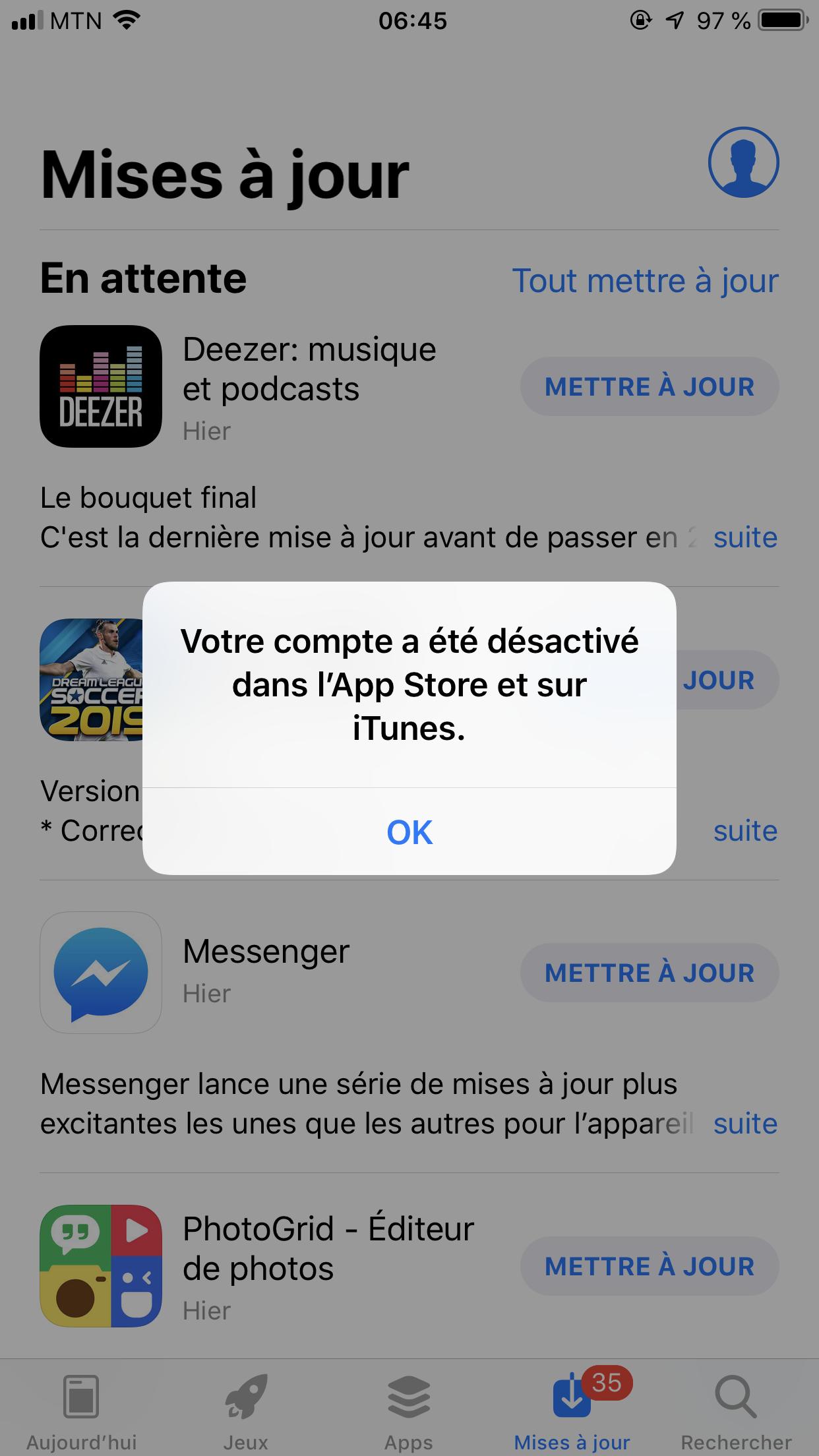 App store log in