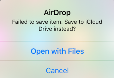 mov airdrop failing from MacBook to iPho… - Apple Community