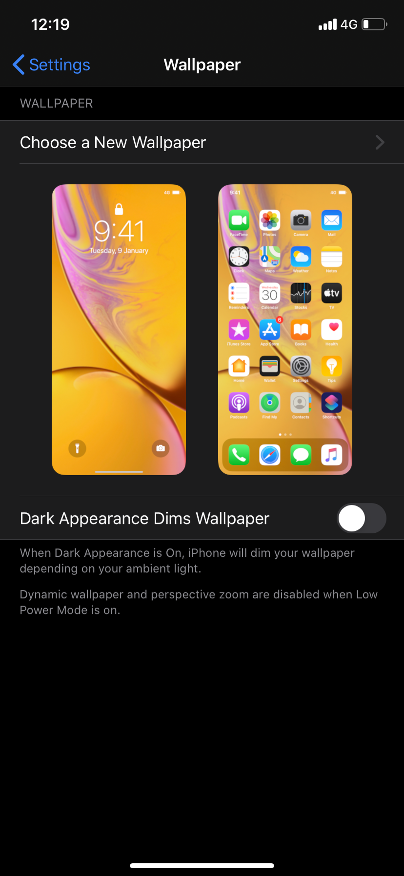 Ios 13 Faded Wallpaper Issue Apple Community