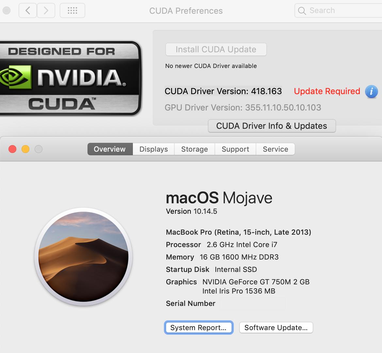 Cuda update required - no newer cuda driv… - Apple Community