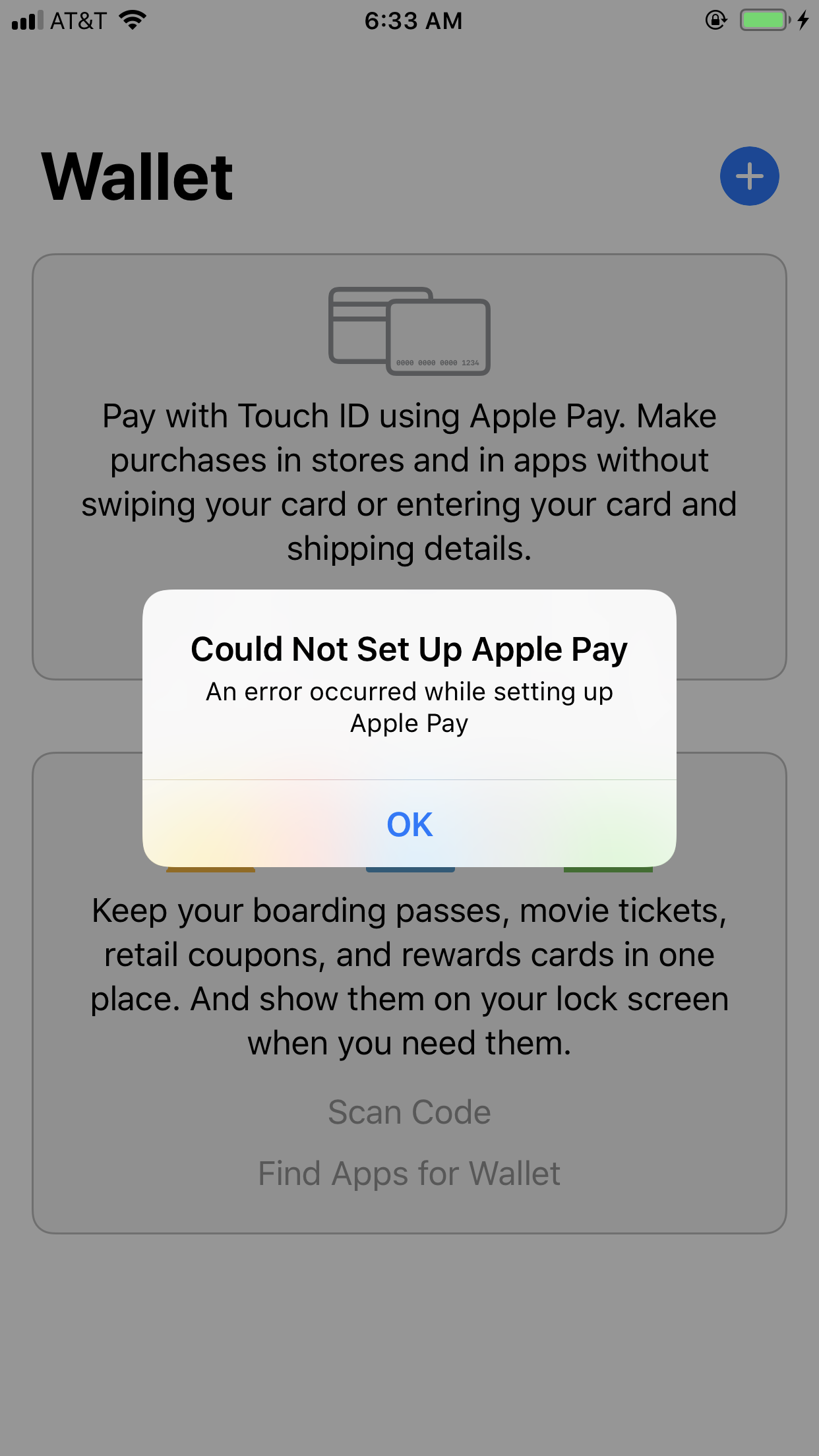 Error occurred while trying to set up App… - Apple Community
