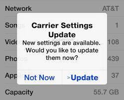 Carrier Settings Update On Iphone Ipad Apple Community