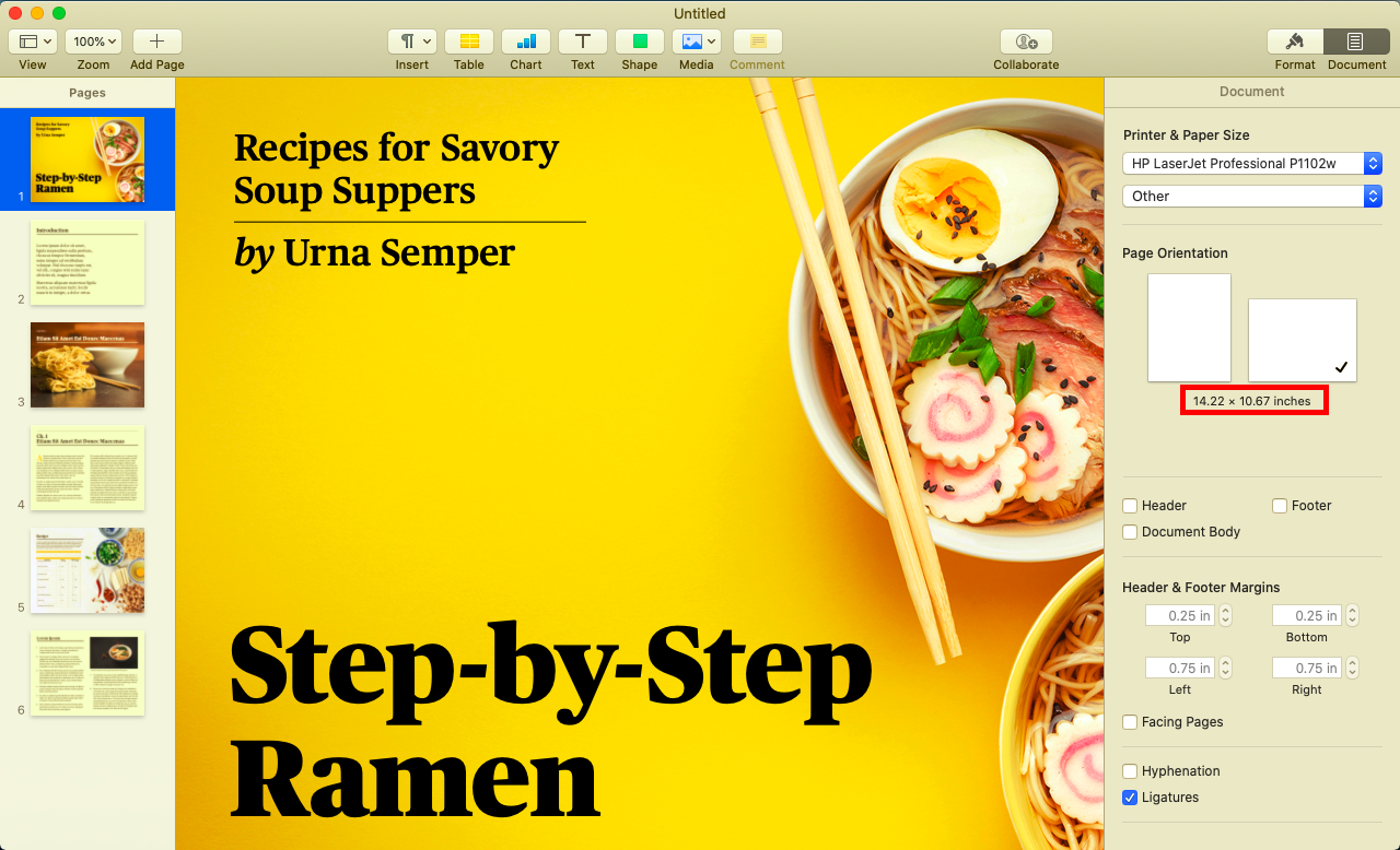 Mac Pages Recipe Template from discussions.apple.com