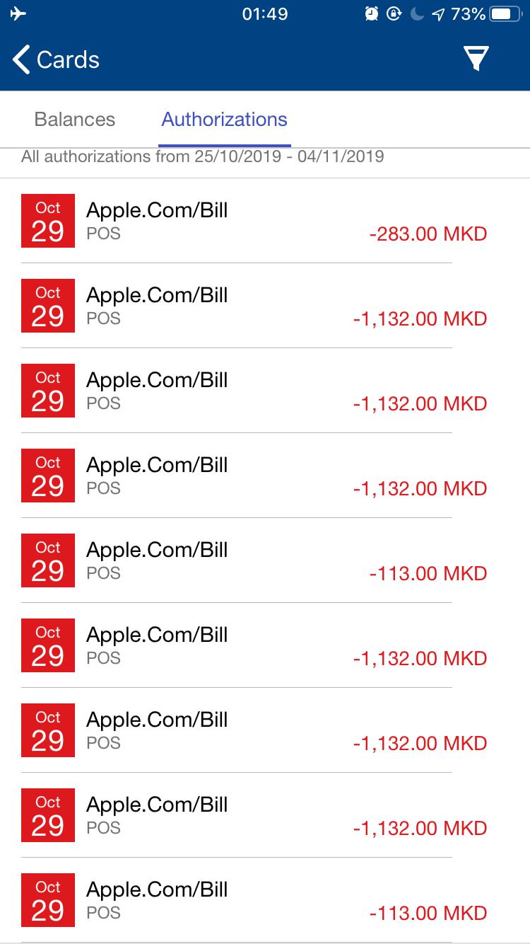 は bill と apple com