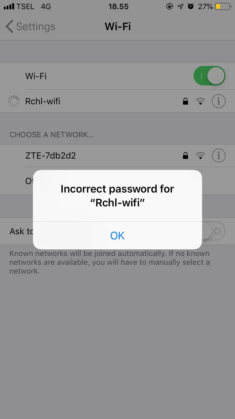 Wifi Always Error Apple Community